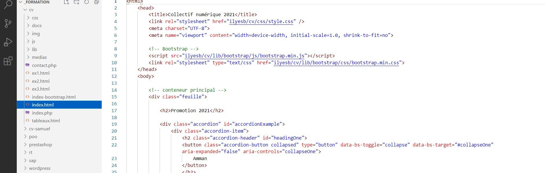 formation html, css, js débutant et avancé